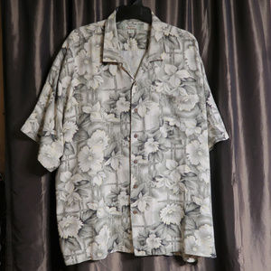 Tommy Bahama Silk floral print button front shirt